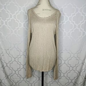 Chan Luu Sequin Light Long Sweater